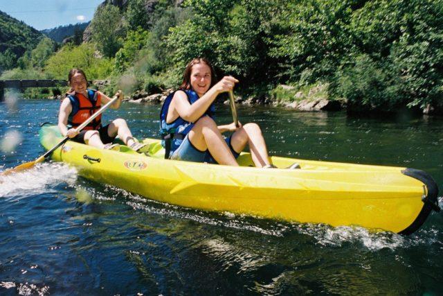 camping canoe cevennes