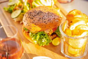 Assiette burger maison