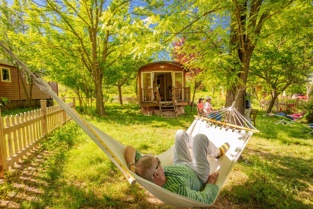 Roulotte camping Gorges de l'Hérault