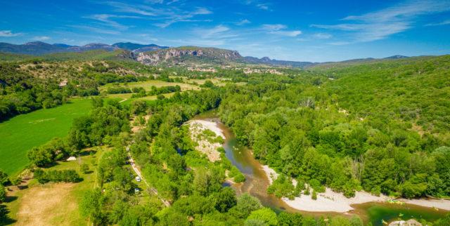 Camping bord de rivière Cévennes