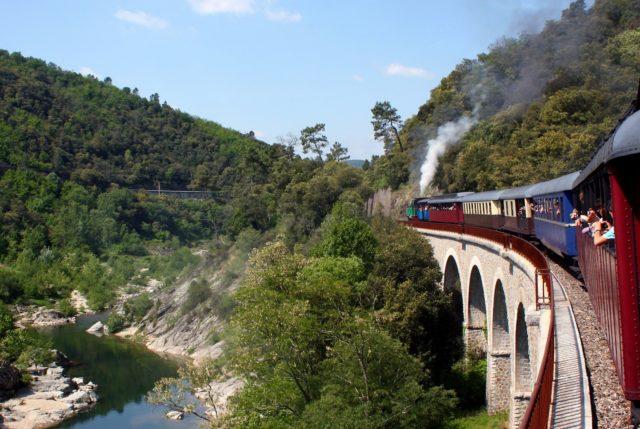 Balade dans le Train à vapeur des Cévennes à Anduze