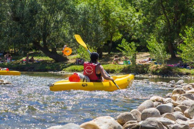 kayak sur le fleuve herault