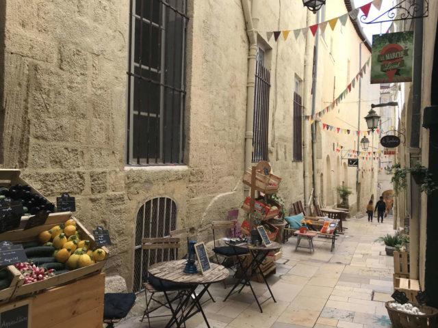 Ruelle du centre historique de Montpellier