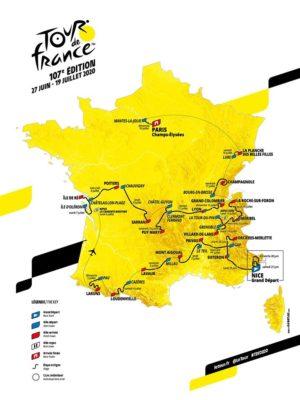 Listes des étapes 2020 de la course de vélo française à la renommée internationale