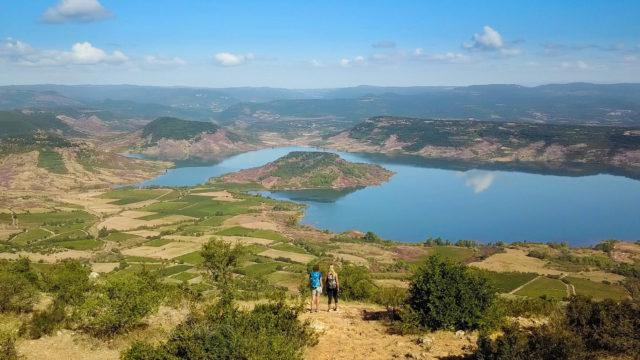 Vue Lac Salagou randonnée